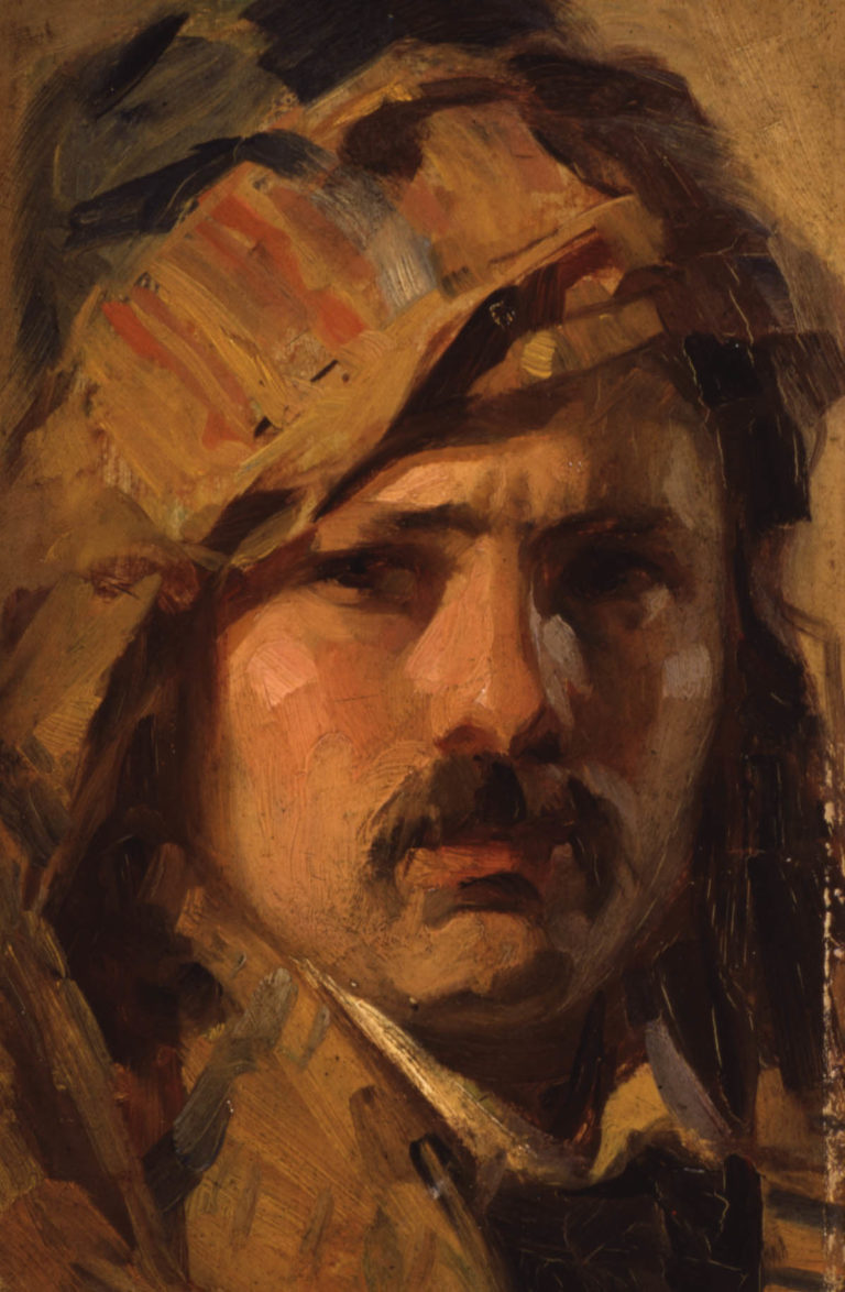 Self–portrait, 1912 oil on panel,  27,5 x 17 cm Collection G.I. Katsigras Museum