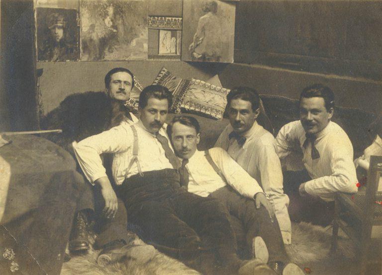 Apostolos Geralis, Loukas Doukas, Dimitrios Biskinis, Antonios Zohos et Gounaro (Paris, 1920)